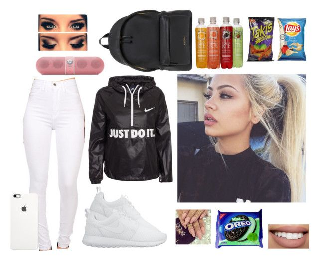 """Going to school"" by explorer-14554846938 on Polyvore featuring NIKE, Givenchy, Beats by Dr. Dre and Sephora Collection"