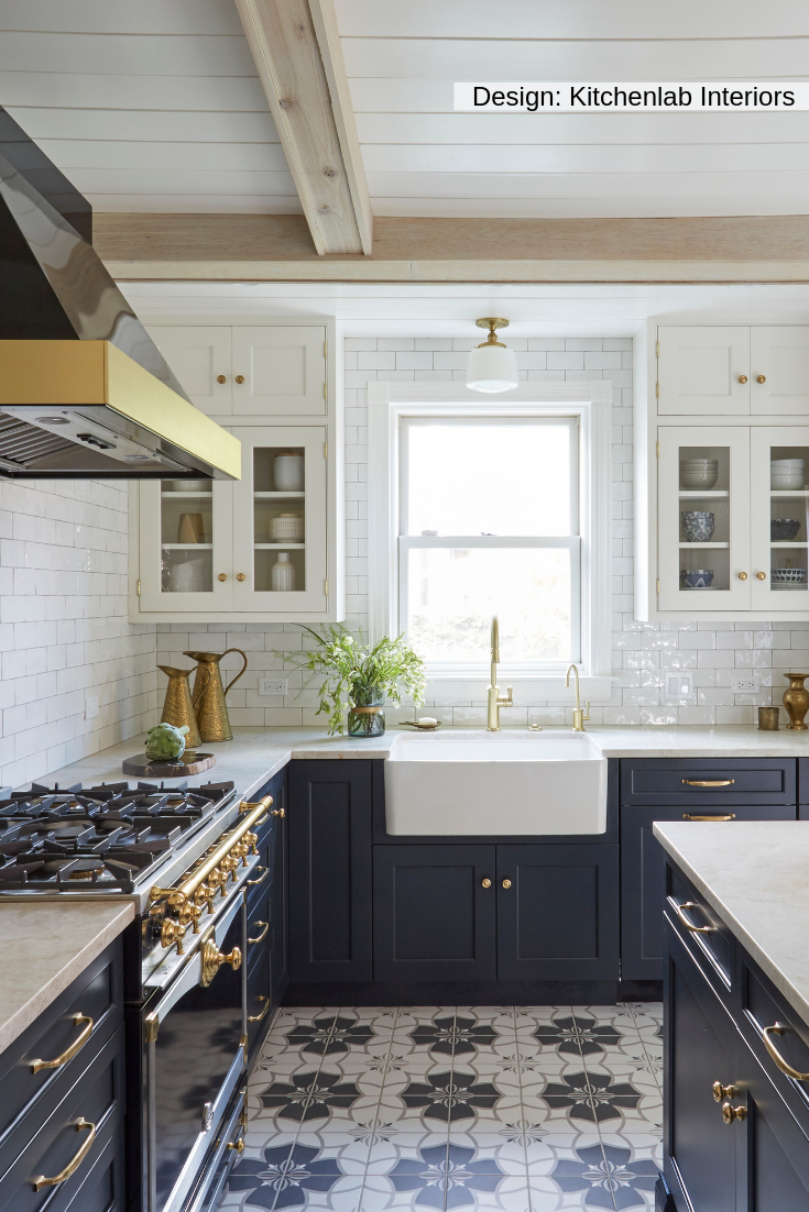 Photo of The use of a U railroad tile is part of a backsplash