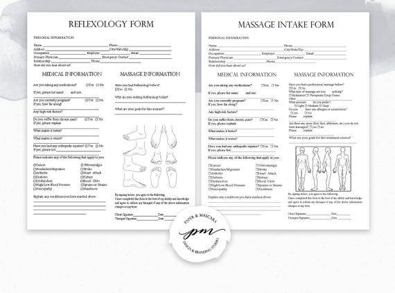 Massage Therapist Business Planner, Massage Consent Forms