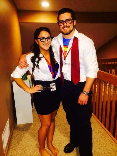 Love This Costume We Did Last Year Couples Costume Lois Lane And Clark Kent Definit Couple Halloween Costumes Halloween Costumes Diy Couples Couple Halloween