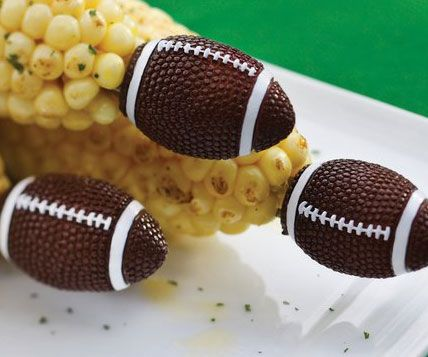 Football Shaped Corn Holders Clean Hands Corn Foodie Gifts