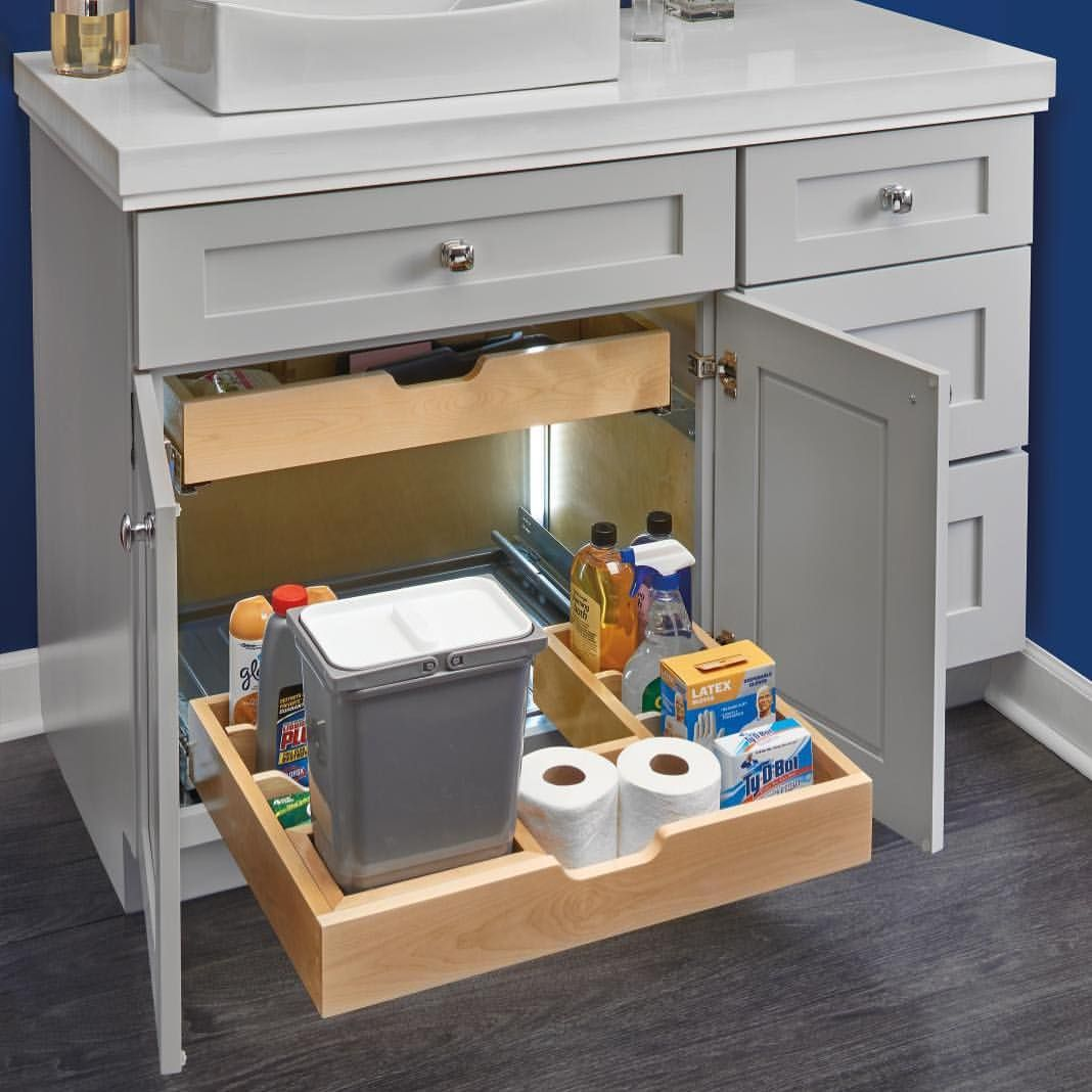Easily Workaround The Under Sink Plumbing And Find A Place For All The Bathroom Essentials This Organizer Comes In Either A Bottom Mount Or Side Mou Rev A Shelf