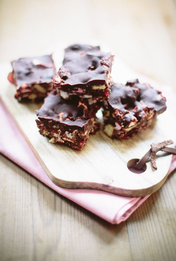 Nigella Lawson's Rocky Road Bars. Photography by @Heather Creswell Williams