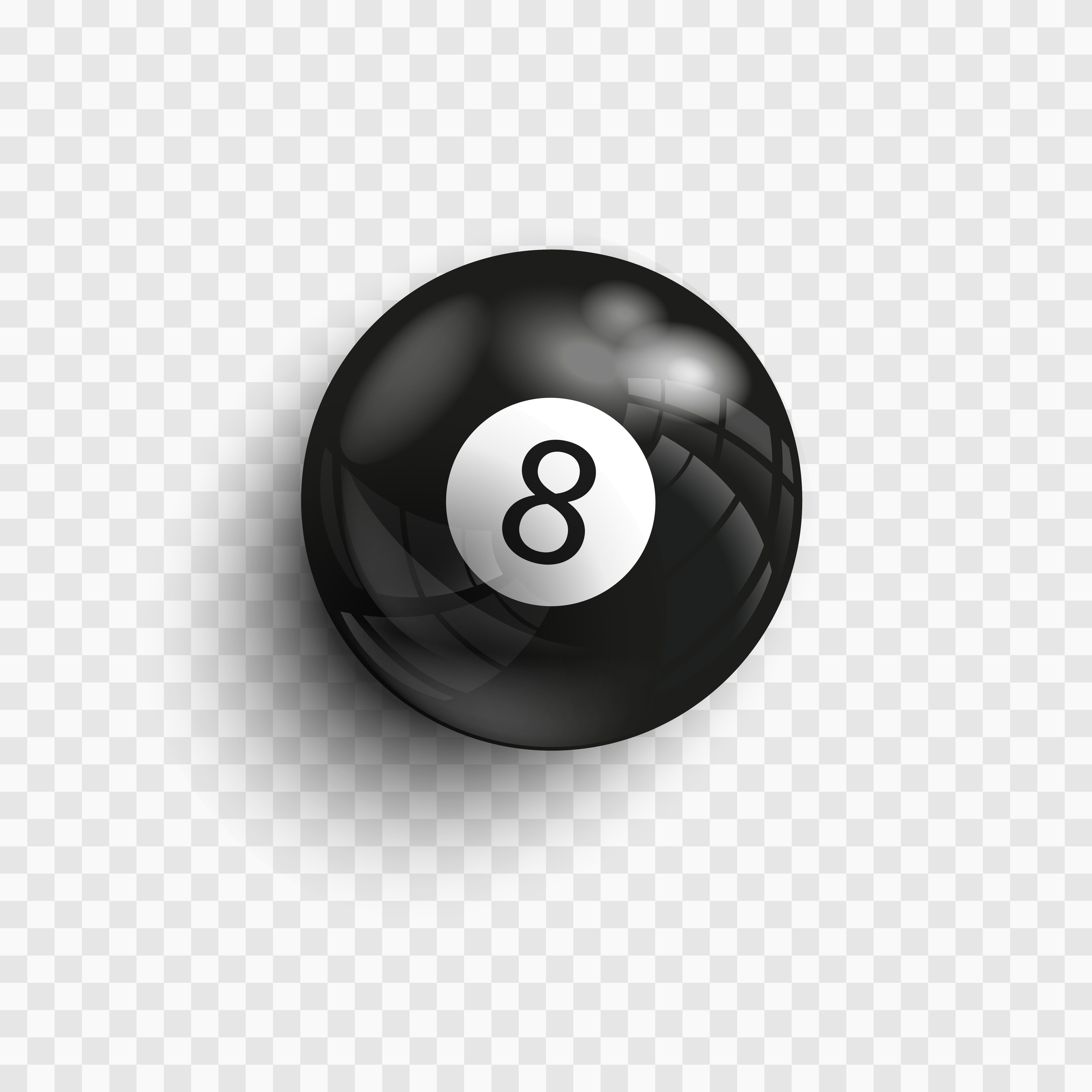Eight ball isolated on a transparent background 8