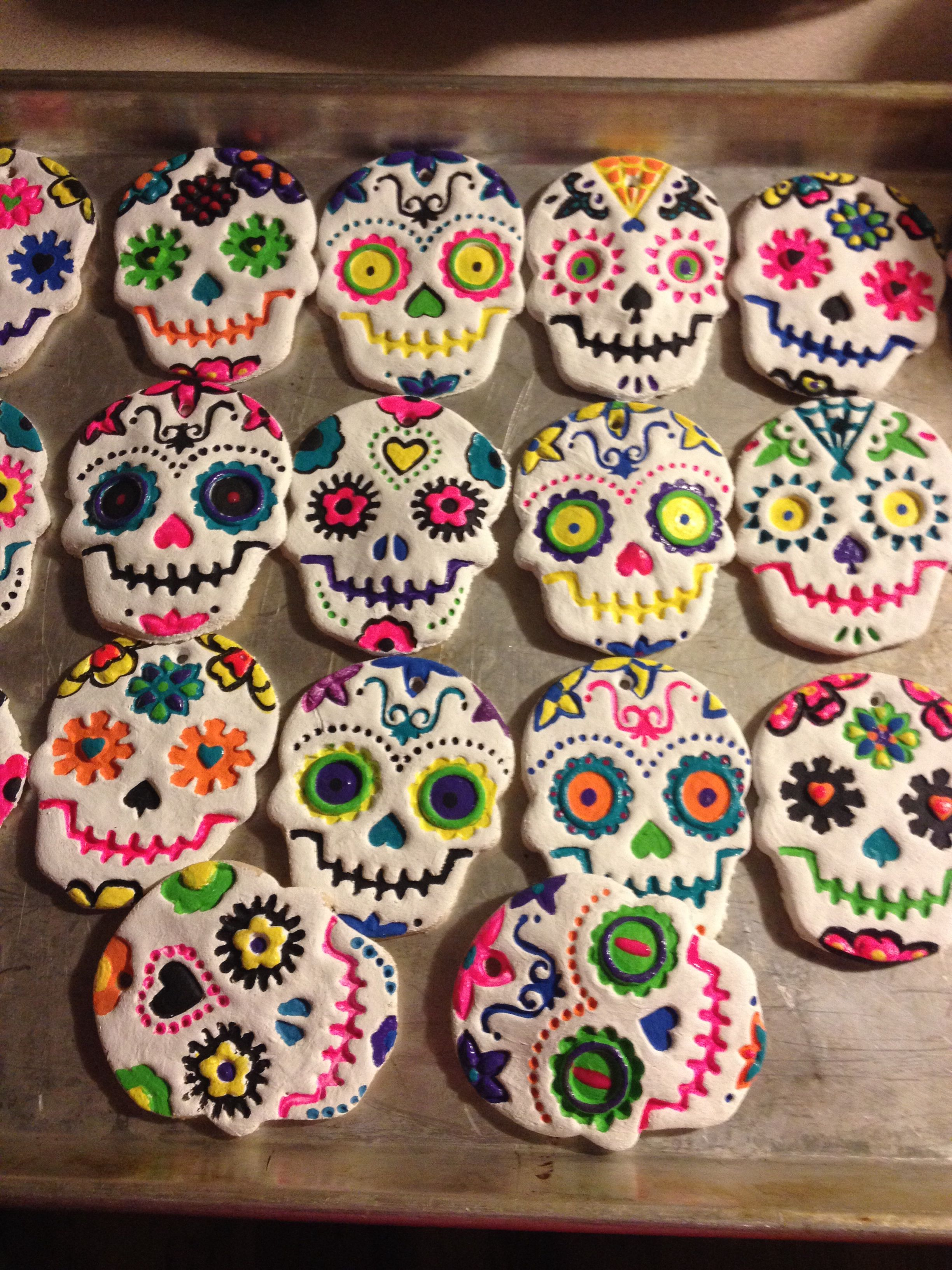 Pin By Jen Brookhouse On Craft Ideas Salt Dough Crafts Salt Dough Sugar Skull Crafts