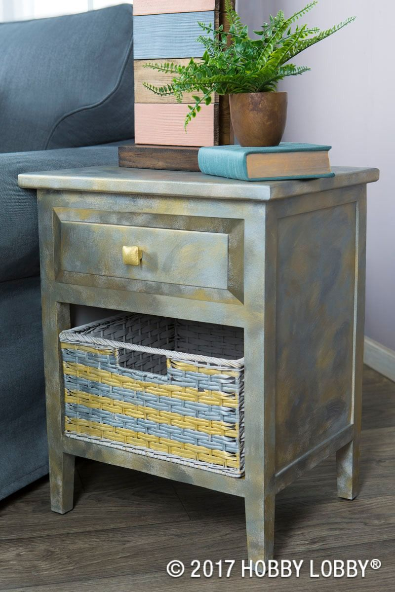 Update Old Furniture With An Acrylic Paint Basecoat And Layers Of Brushed Metal Paint With Images Recycled Furniture Diy Craft Projects Diy Furniture