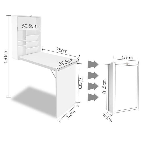 Fold Away Wall Desk   Wall desk, Bookshelf desk, Fold out desk