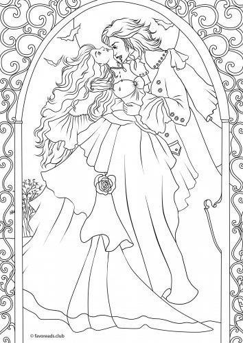 real vampire coloring pages | Real Vampires Pages Coloring Pages