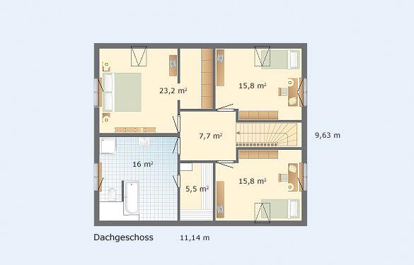 Engelsby | Häuser Und Grundrisse | Danhaus    Sauna An Badezimmer  Angeschlossen!