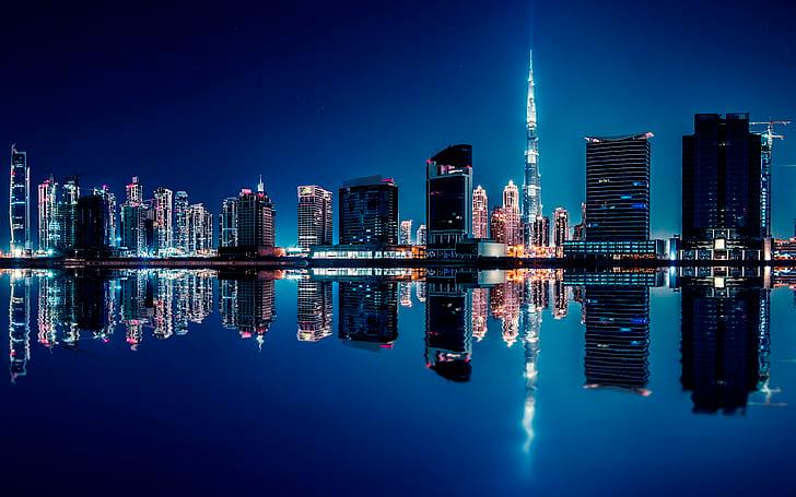 Hd Wallpaper United Arab Emirates Dubai Reflection On Midnight 4k Ultra Hd Deskto In 2021 Computer Wallpaper Desktop Wallpapers Computer Wallpaper Reflection Pictures