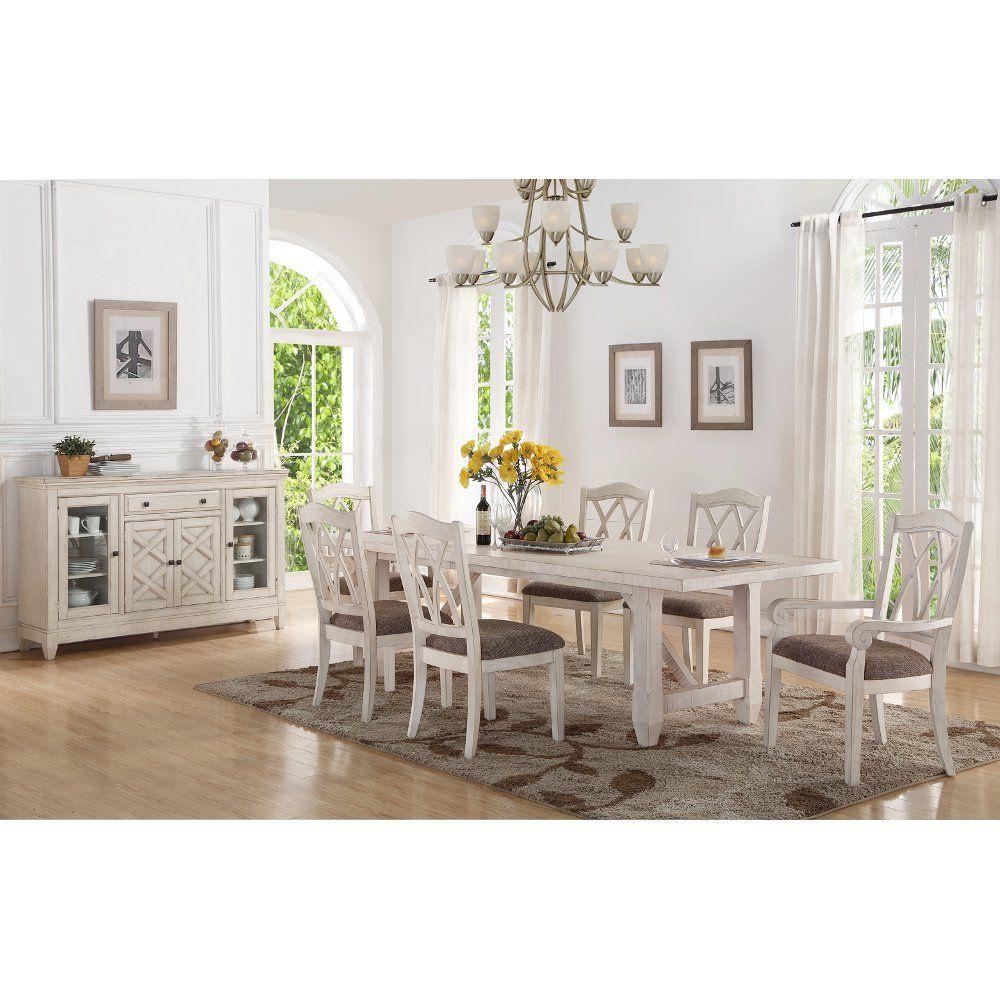 Brushed White 5 Piece Dining Set Scottsdale Dining Room