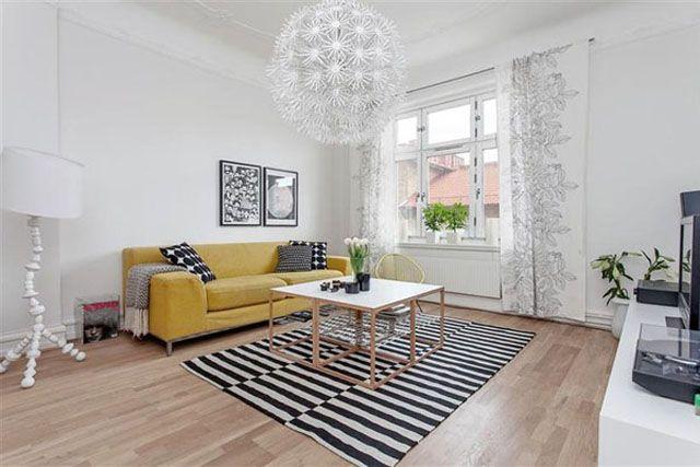meuble design dans un séjour scandinave | design et salons - Meuble Cuisine Scandinave