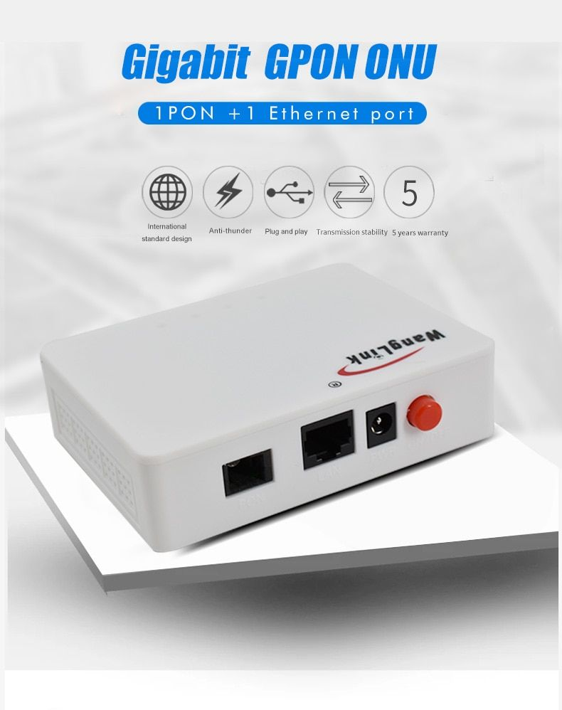 FTTH GPON ONT ONU With Single Lan Port Apply to FTTH Modes