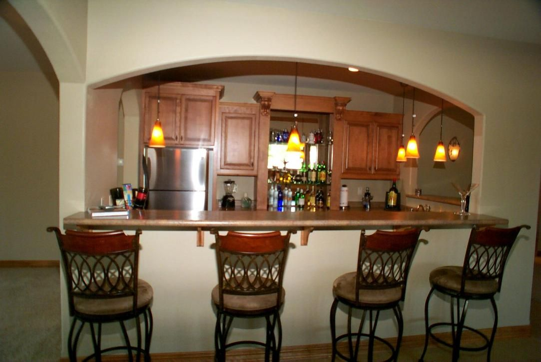 Kitchen breakfast bar ideas breakfast bars home - Basement kitchen and bar ideas ...