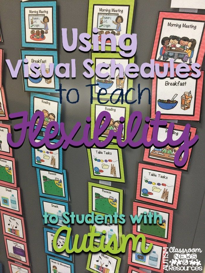 Special Education More Flexible >> Using Visual Schedules To Teach Flexibility To Students With