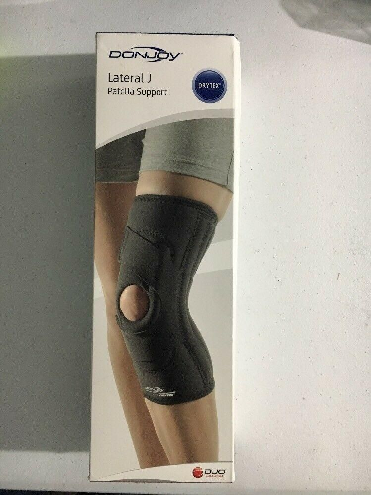 dcf2771791 DonJoy Lateral J Patella Knee Support Brace without Hinge: Drytex, Left  Leg, LG