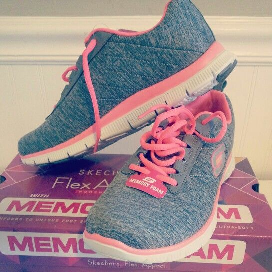 Memory Foam Sketchers I Have These With Teal Instead Of Pink
