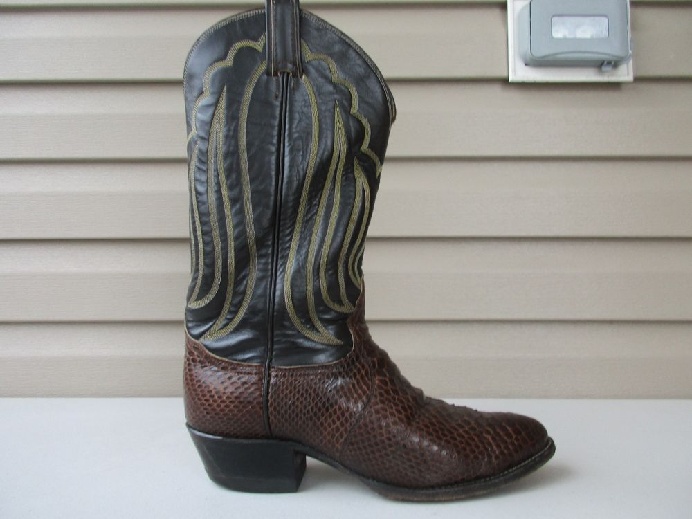 a53d444970a Details about TONY LAMA Mens Cowboy Boots Western Brown Snake ...