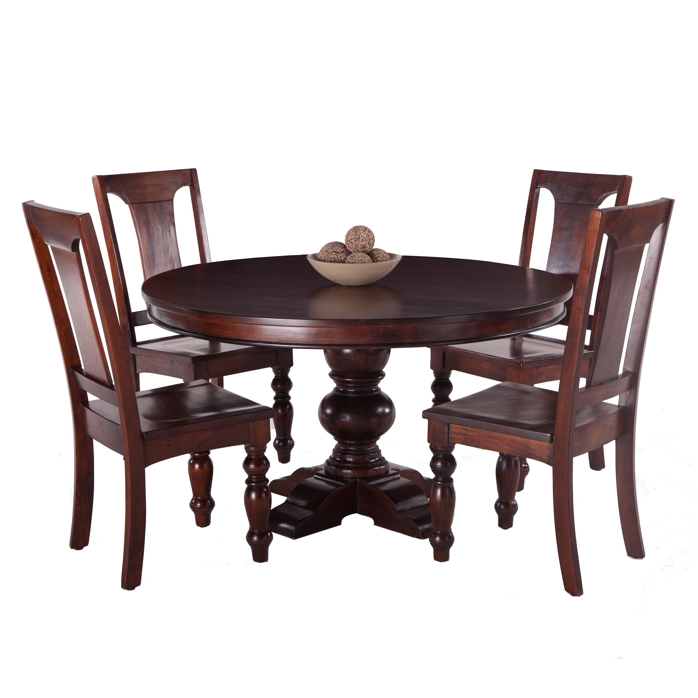 Pearl Grove Solid Mango Wood Round Dining Table And Set Of 4 Mango Awesome Mango Wood Dining Room Table Review
