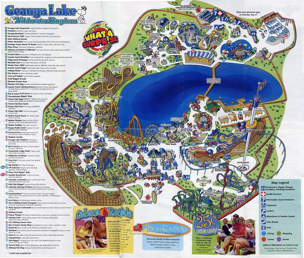 Geauga Lake abandoned amusement park maps Pinterest Amusement