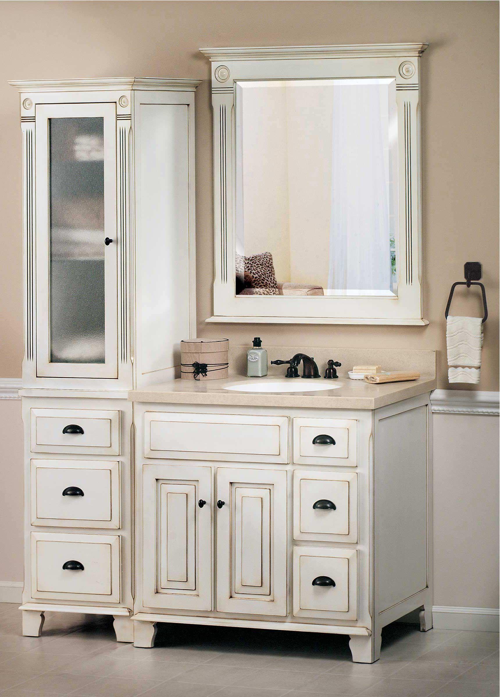 Bathroom Simple Victorian Vanities With Minimalist Decoration And ...