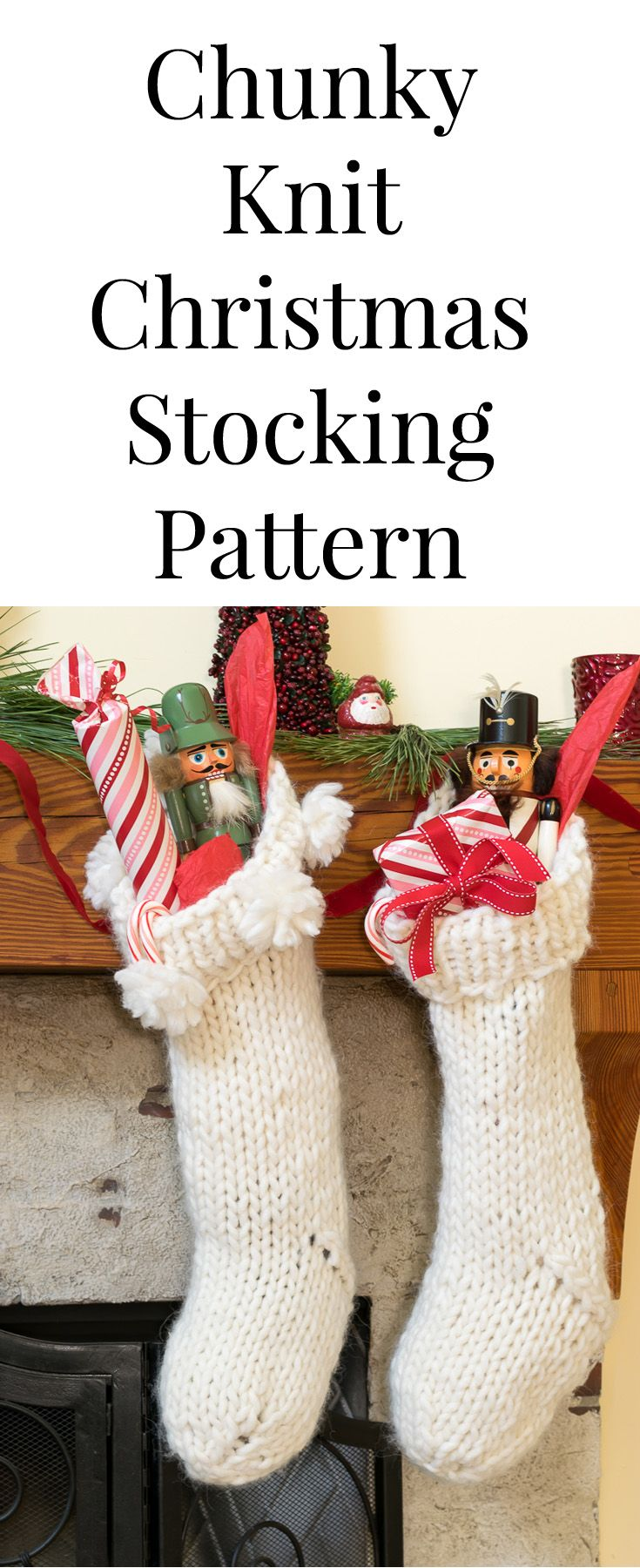 Chunky knit christmas stocking pattern knit patterns christmas what is not to love about a handmade chunky knit christmas stocking this easy diy bankloansurffo Images