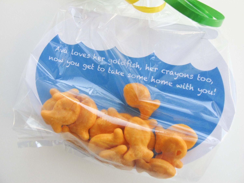 ELMO Goldfish Party Favor Tags Sesame Street favors Goldfish tags