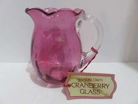 Vintage Handblown Cranberry Glass Small by 4theLoveofMilkGlass