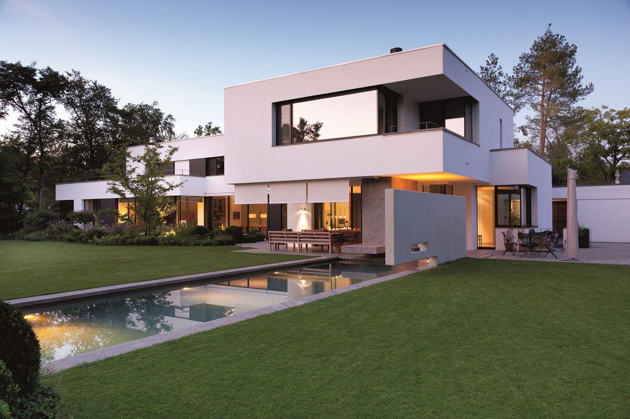 Auslegung außen wohn architektur bauhaus münchen haus design villen hat schwimmbad gehäuse