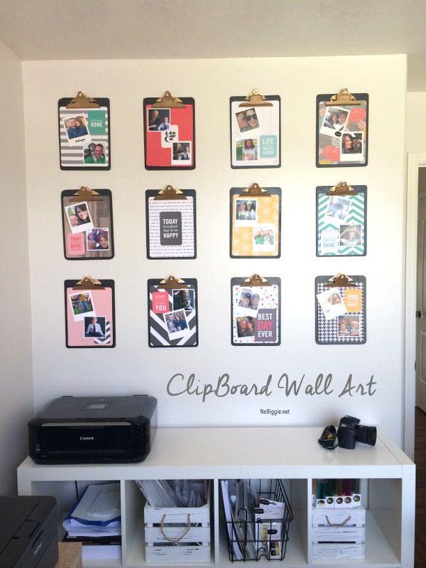 Make A Diy Clipboard Photo Display Clipboard Wall Art Diy Clipboard Clipboard Wall
