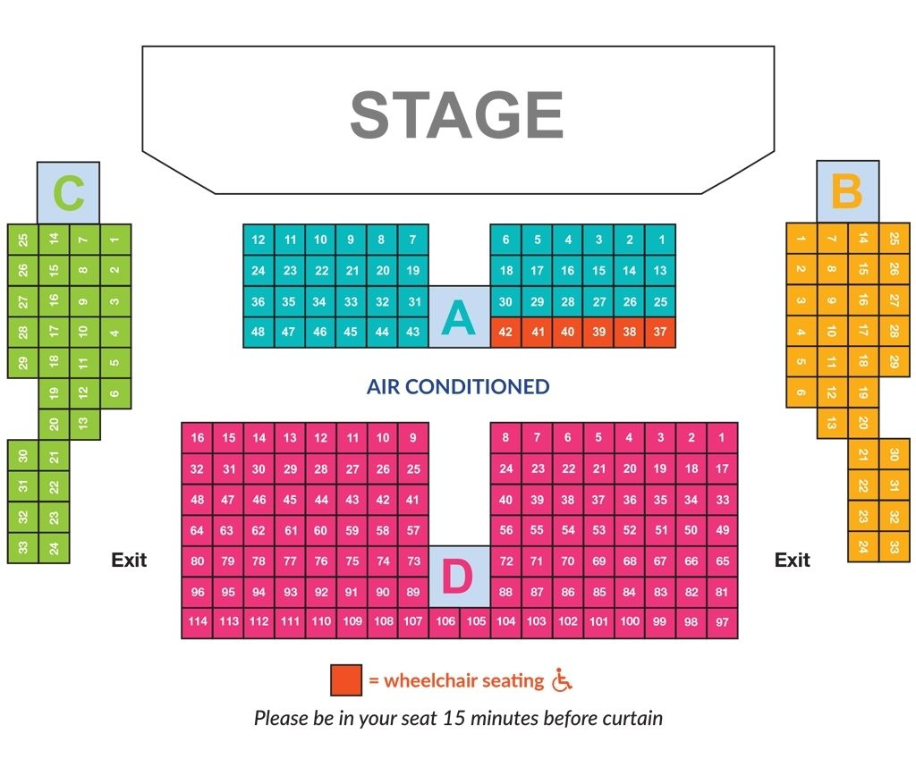 Festival Theatre Seating Plan Di 2020