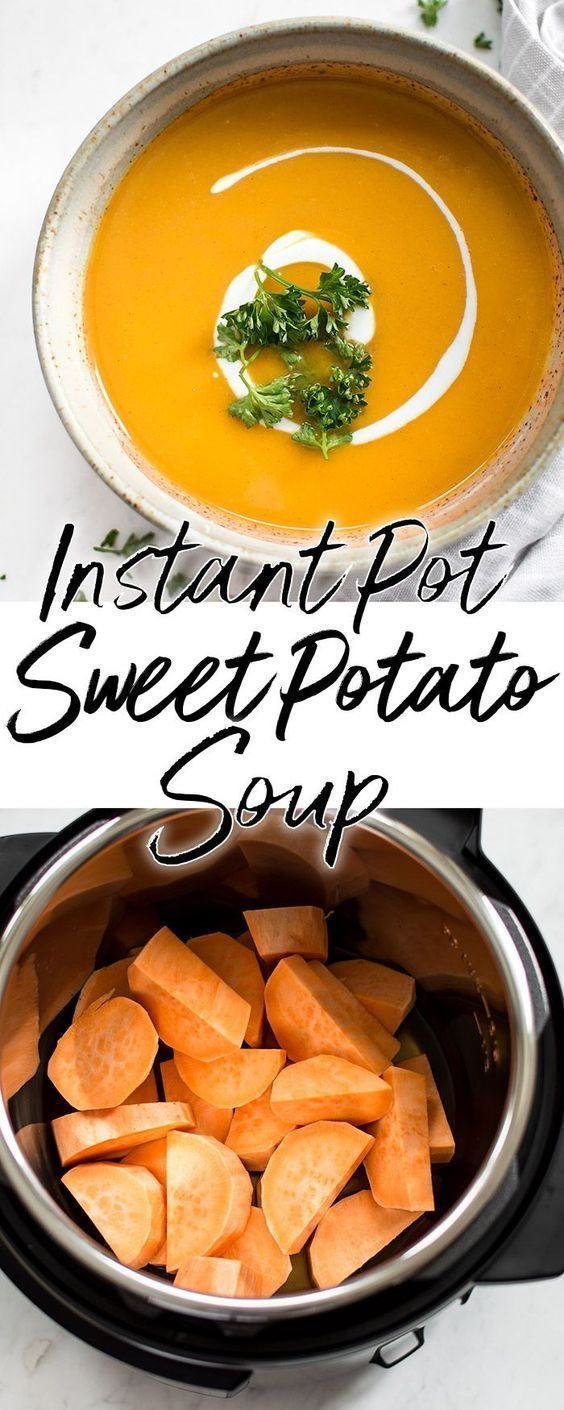 Instant Pot Sweet Potato Soup #potatosoup