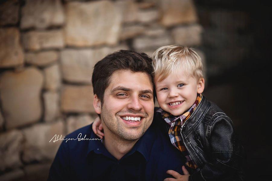 Jason and son Grayson.