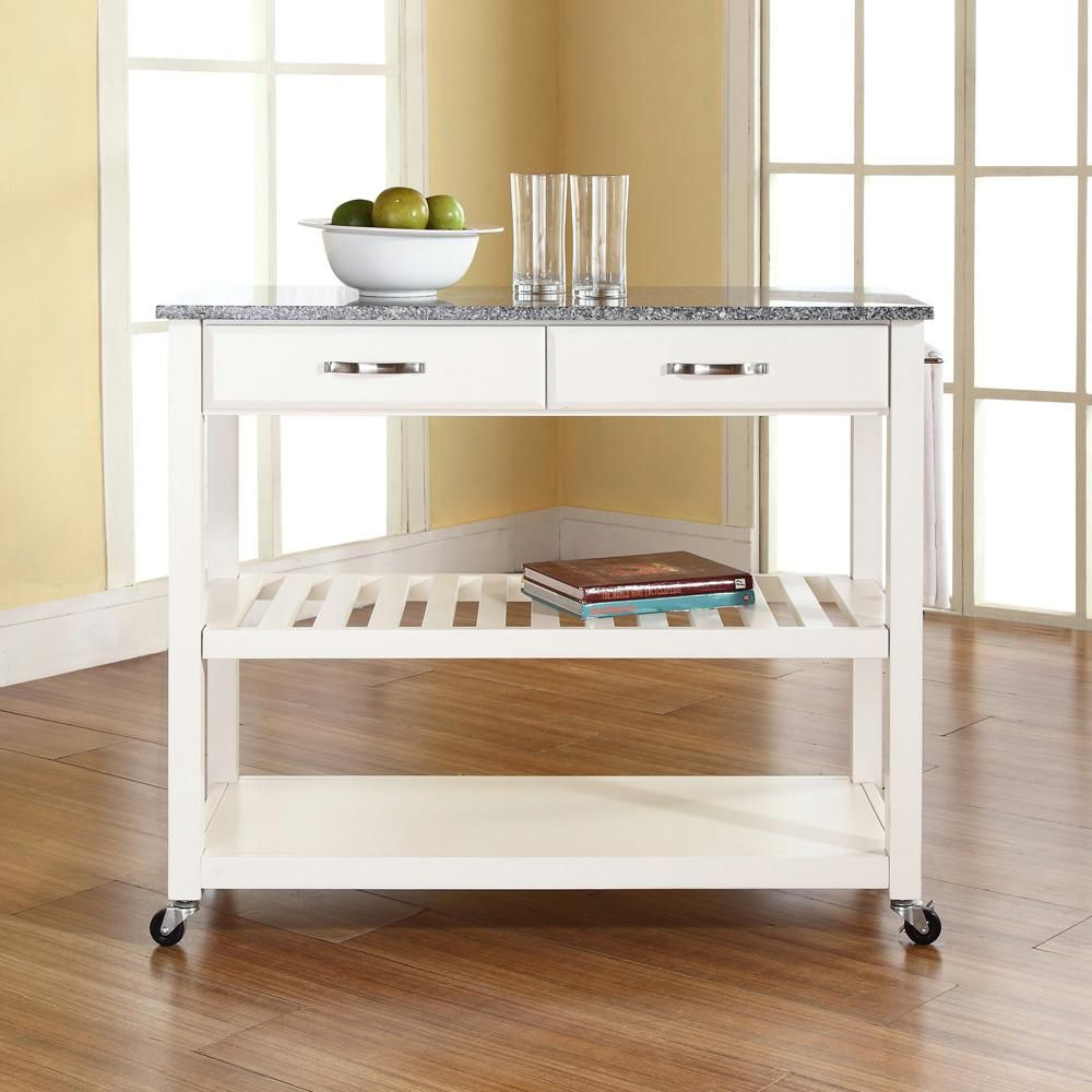White Kitchen Cart With Granite Top | Pinterest | Küche insel ...