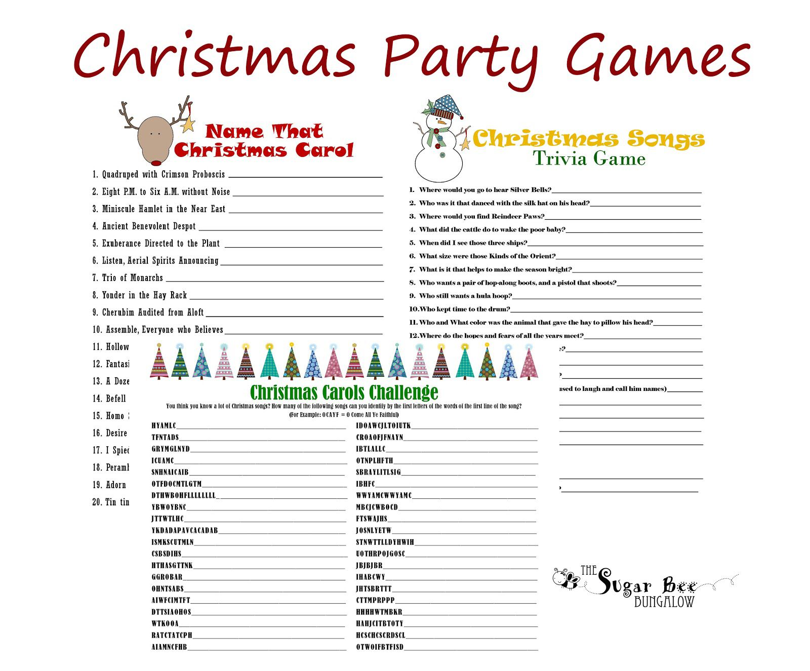 Games for Xmas Adult birthday party games, Christmas