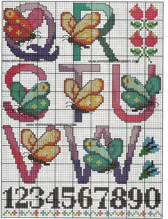 ae1f2e5a46a9a3f0b6dedffc342645ed.jpg 539×699 pixels | Point de croix, Point de croix papillon ...