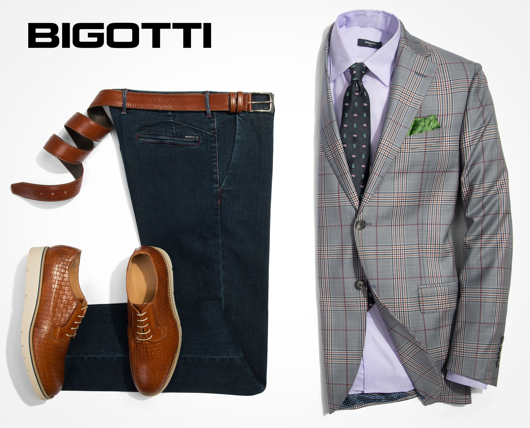 f25f89d404 The #blazer, #indigo #jeans & #brown #shoes – a #classic #combination for a  #smartcasual #look #Browse and #shop in #Bigotti #men #clothing #stores and  on ...
