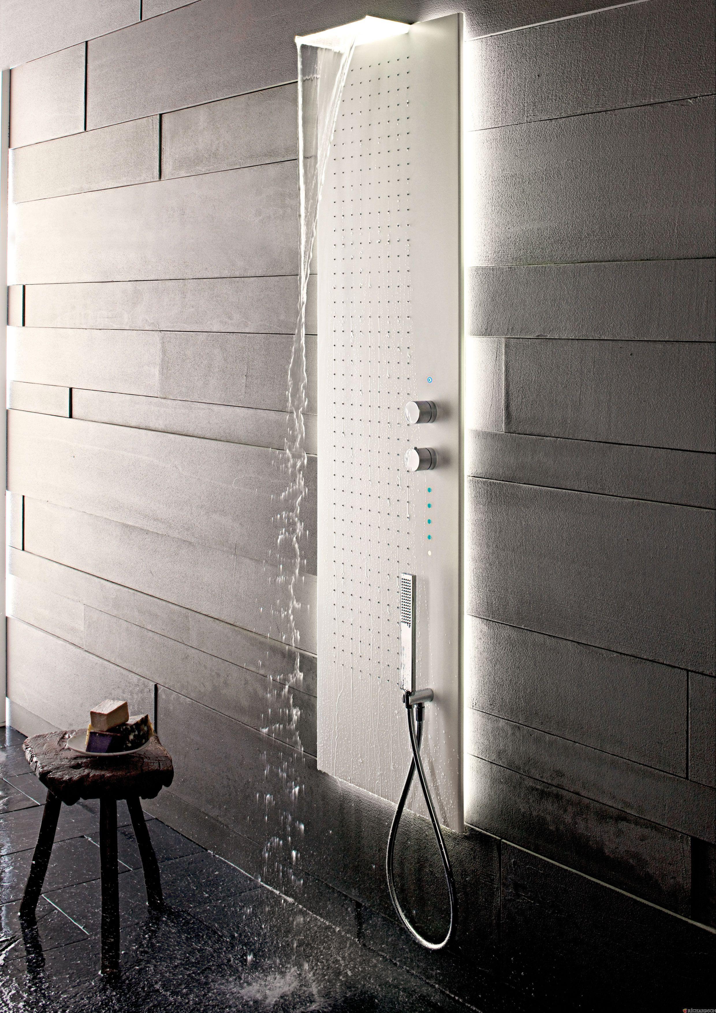Acquapura da muro Illuminazione doccia,