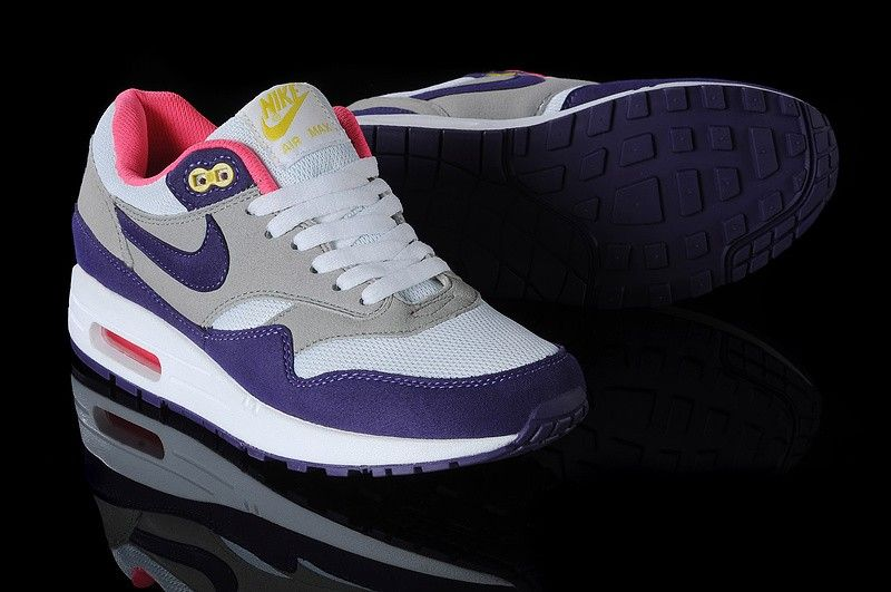 Nike Air Max 1 For Sale Womens Running Shoes Pink Purple Yellow