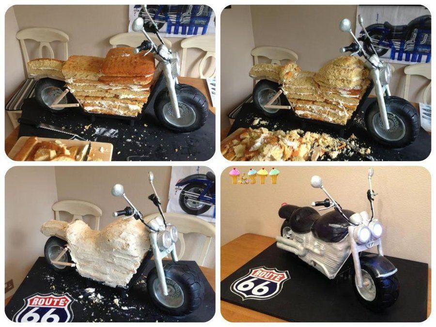 3D motorcycle cake tutorial ft 3D Motorbike Cake by tastycakes