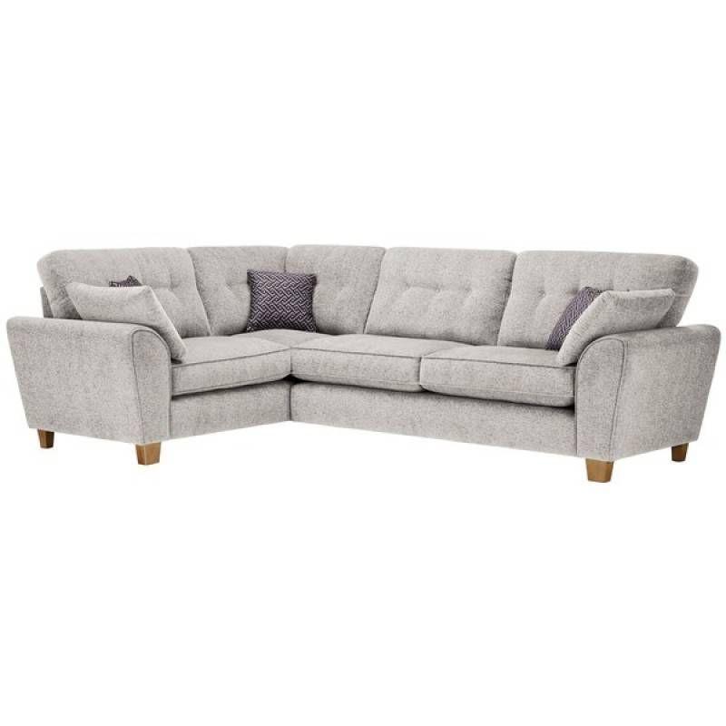 Brooke Corner Sofa Right Hand Facing Cream With Grey Scatters Corner Sofa Best Leather Sofa Furniture