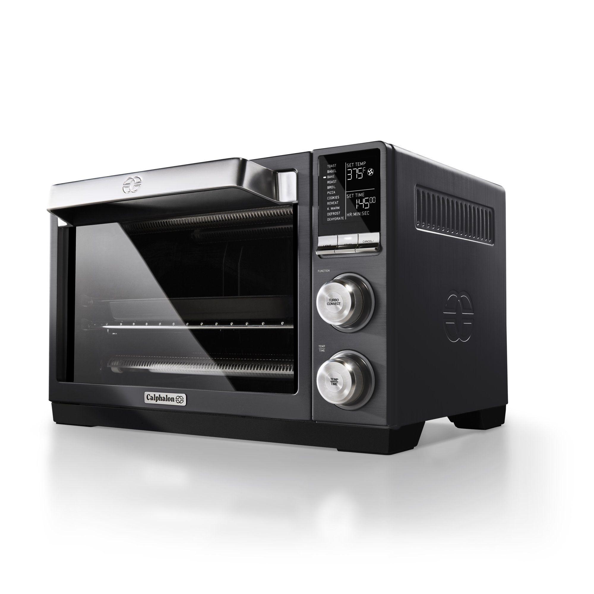 Calphalon Quartz Heat Countertop Oven Dark Stainless Steel