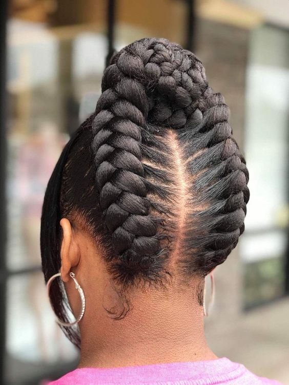Eye Catchy Easy Braided Hairstyles For Black Hair Natural Hair Styles Braids For Black Hair Braided Hairstyles Easy