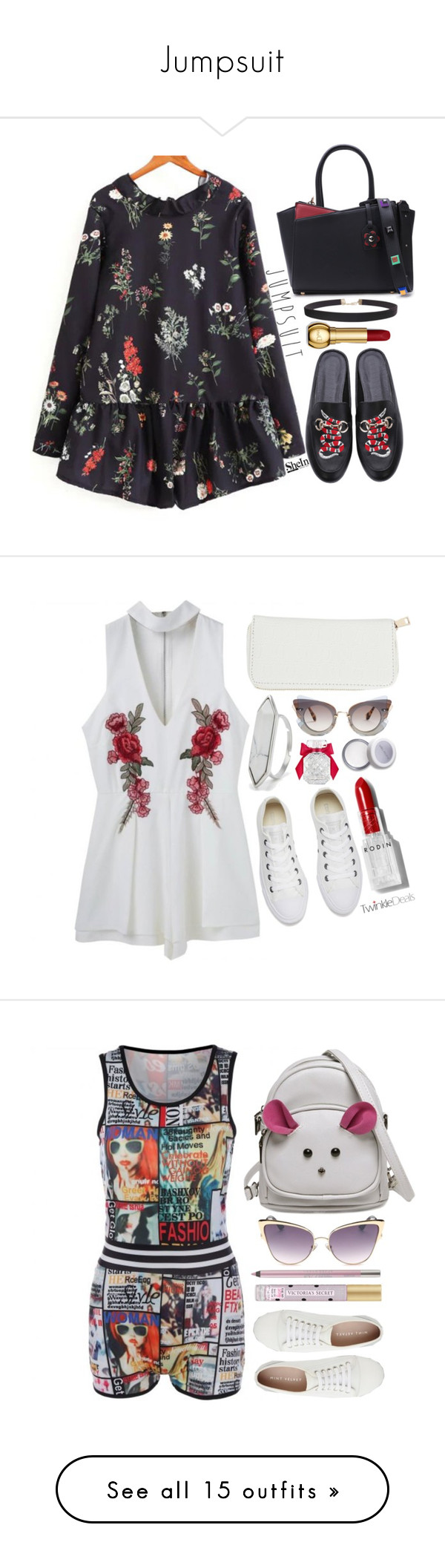 """Jumpsuit"" by simona-altobelli ❤ liked on Polyvore featuring Humble Chic, Miu Miu, Converse, Victoria's Secret, Rodin, Mint Velvet, Urban Decay, ELSE, Marc Jacobs and Lemlem"