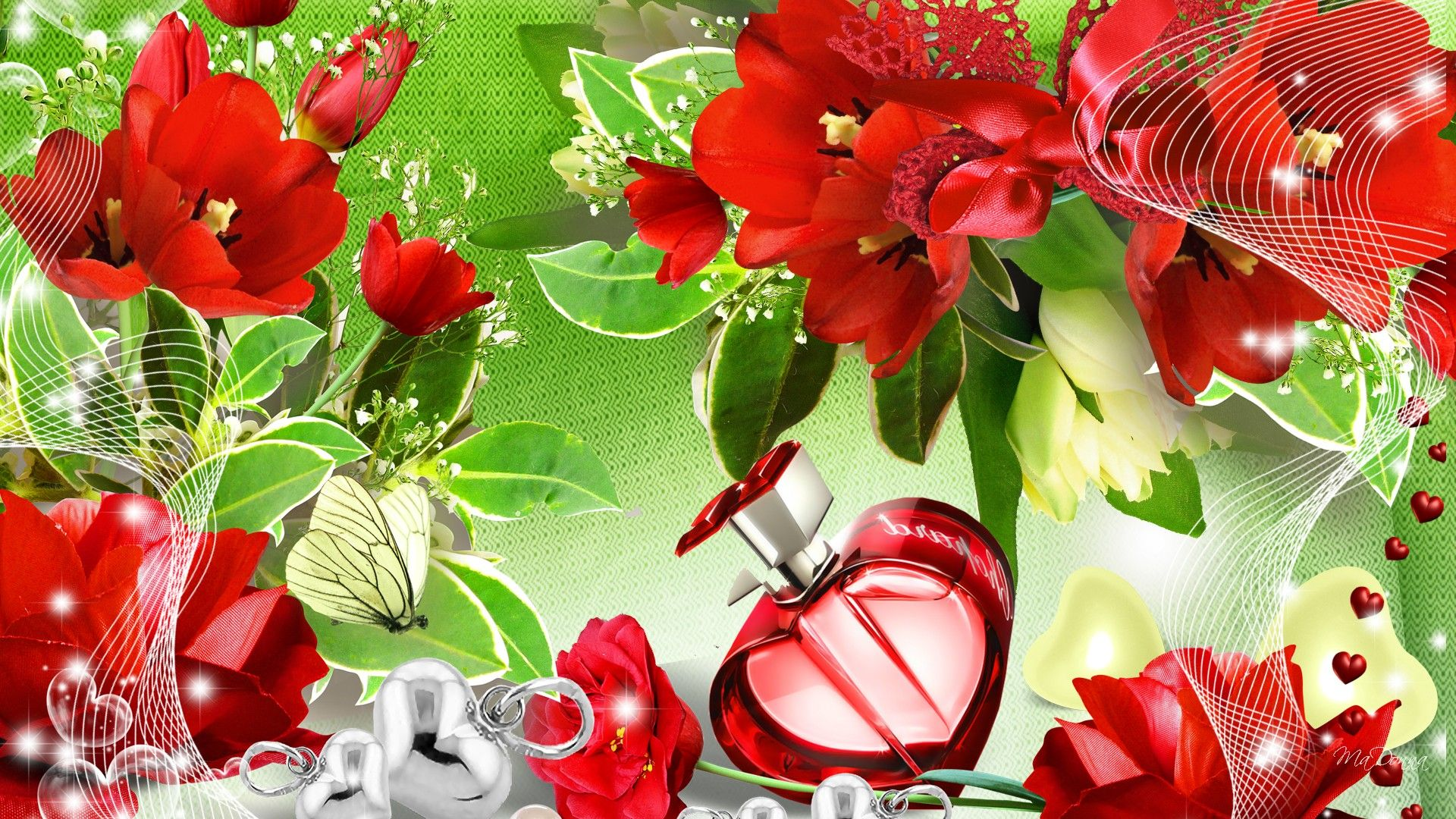 Flowers For Beautiful Flowers And Butterflies Wallpapers