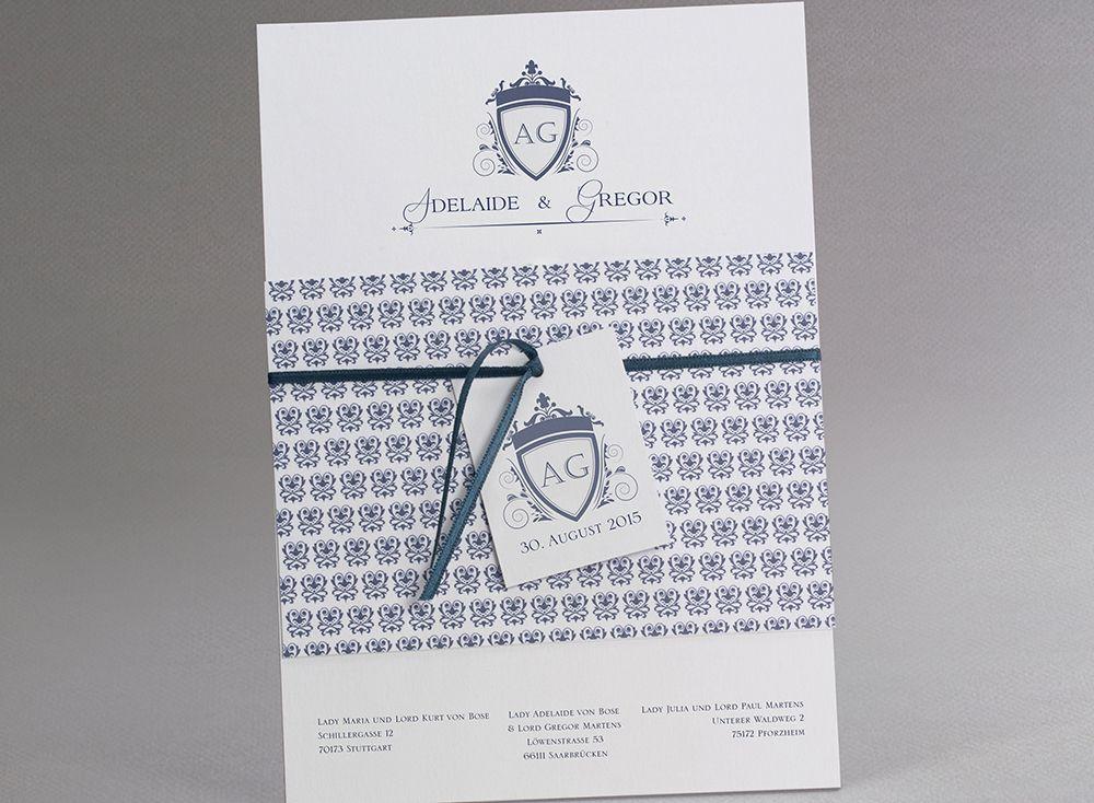 #Letterpress #Hochzeitskarten In #Althochdeutsch #kreativehochzeitskarten # Einladungskarten Old Fashioned M26 009