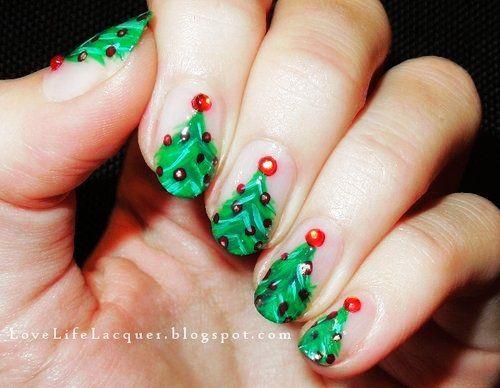 Shortnailsnailart nail art for short nails christmas christmas nail art for short nails christmas nail art design for short prinsesfo Images