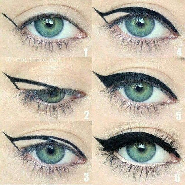 Step by step to apply cat wing liner! | thebeautyspotqld.com.au