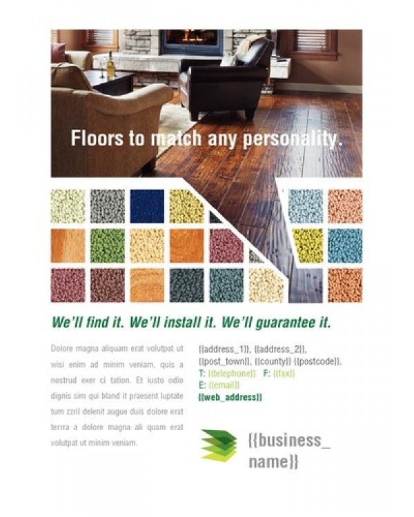 Carpet Fitters A6 Leaflets Carpet Fitters Leaflet Flyer