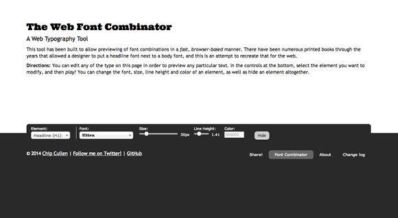 http://font-combinator.com Changer instantanément les polices et couleurs de titres, sous-titres et paragraphes. Pratique pour vérifier que deux polices vont bien ensemble.